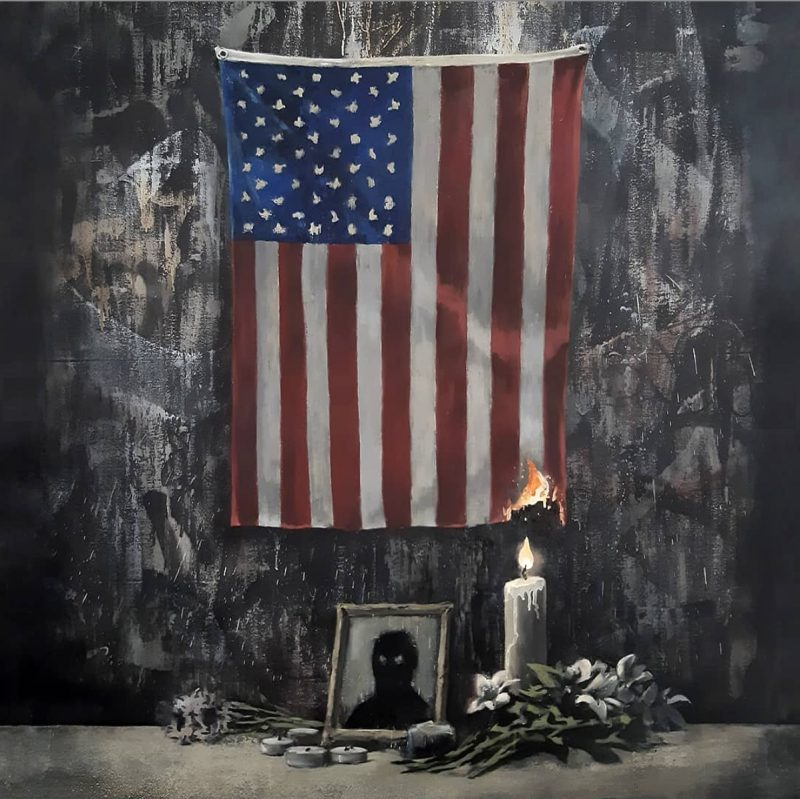 BANSKY PAINTING BLM PROTESTS