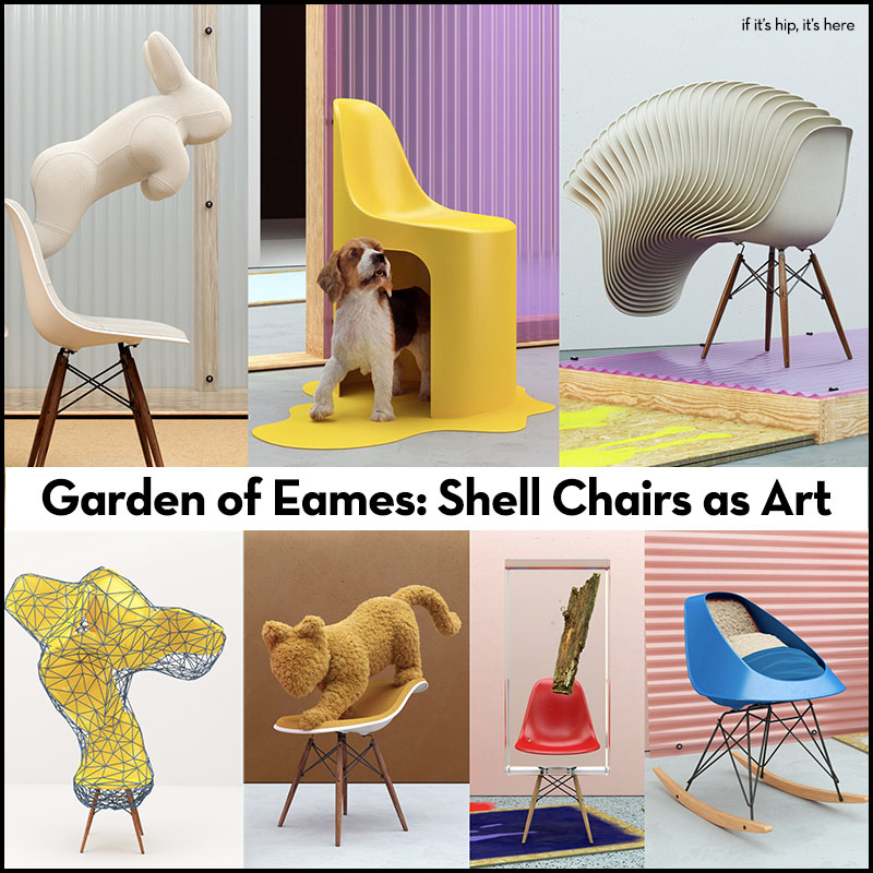 Eames Shell Chairs as Art