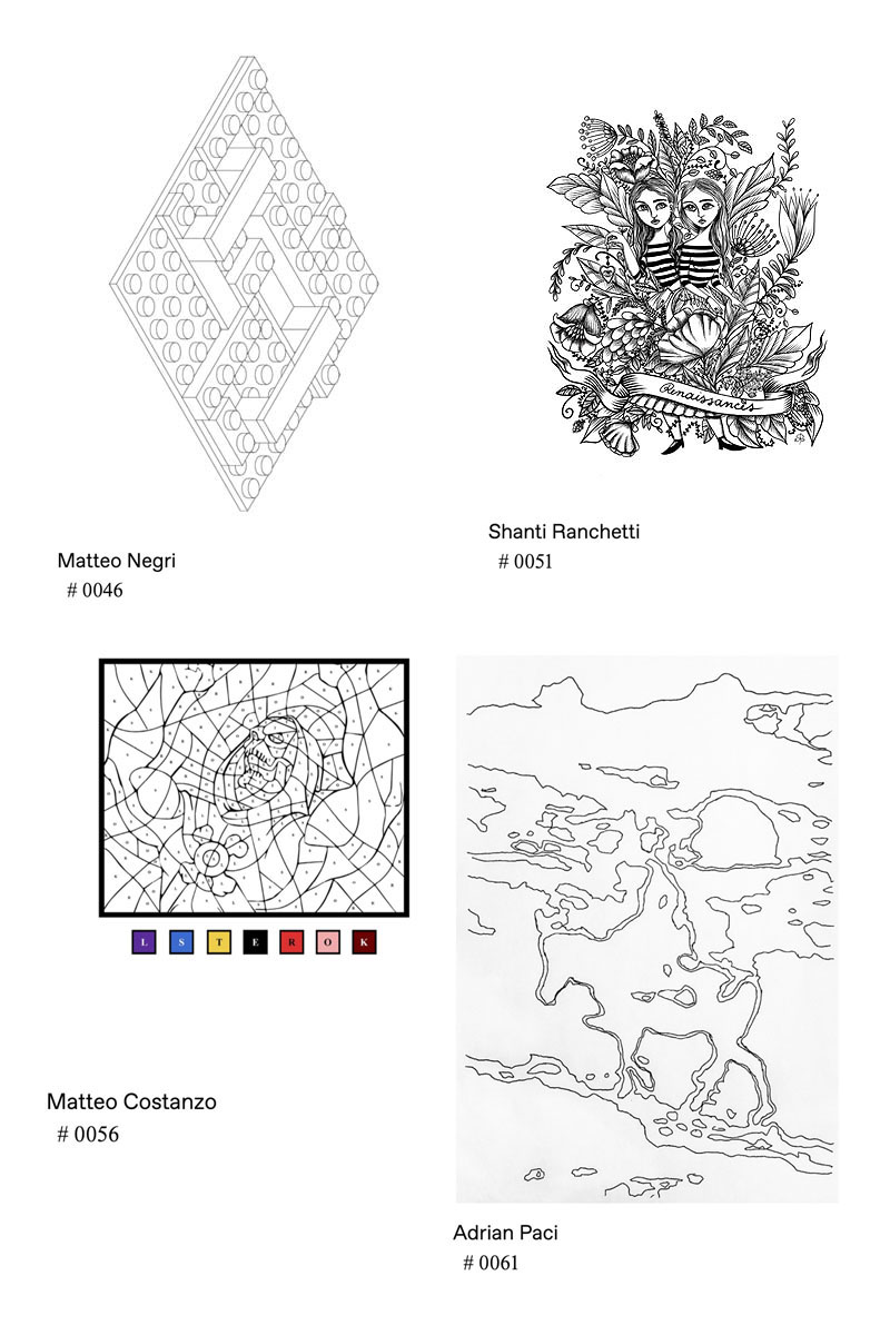 Artists Line art for coloring