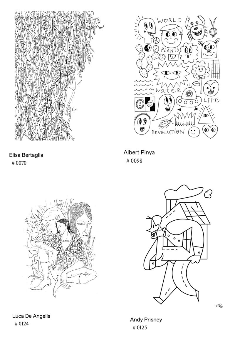 contemporary artists drawings
