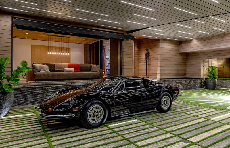 car gallery at private residence