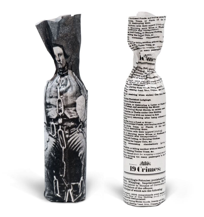 19 crimes bottle wrappers