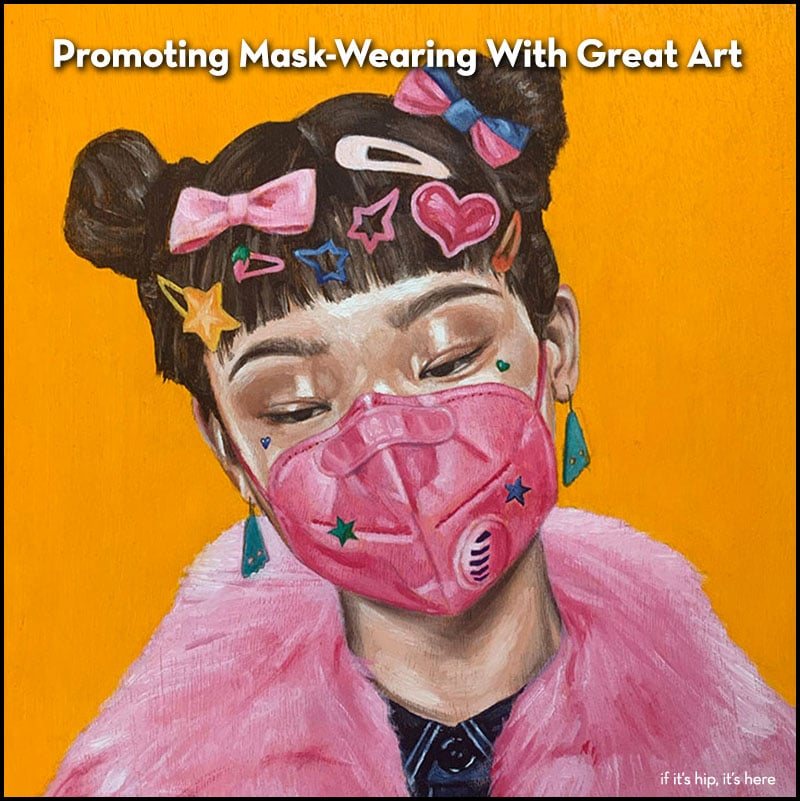promoting mask wearing with art