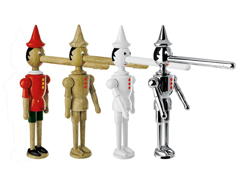 pinocchio faucet four finishes