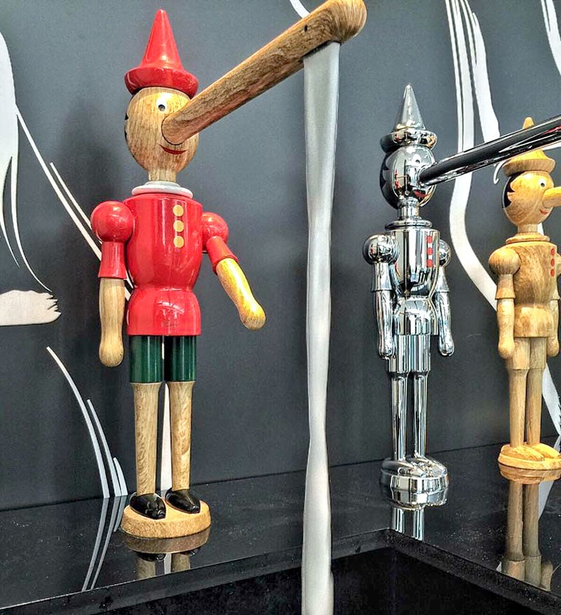 pinocchio faucet three finishes