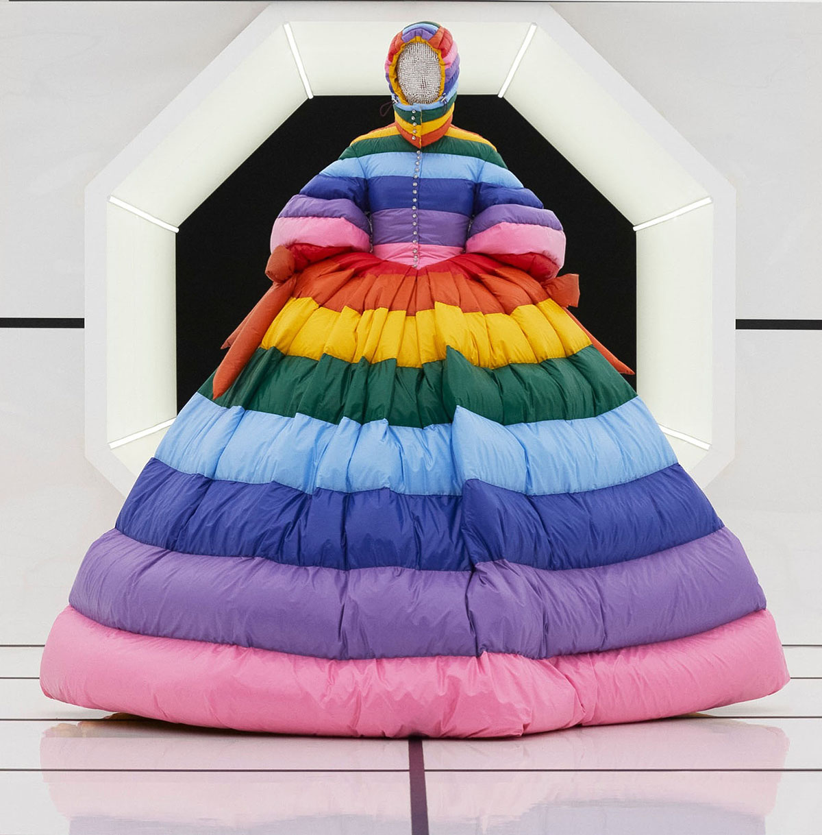 rainbow down gown moncler