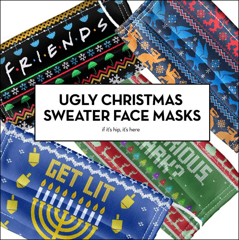 ugly christmas sweater face masks