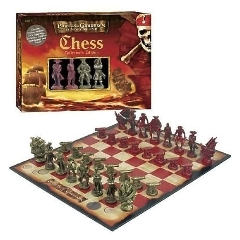 Pirates Caribbean end of the world chess set