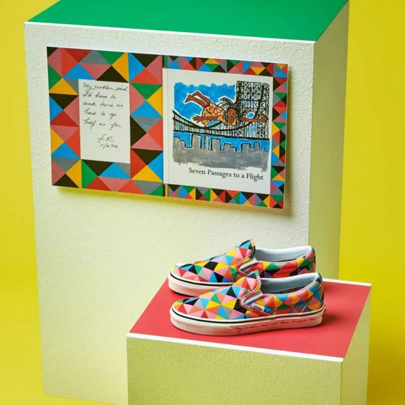 Faith Ringgold art and shoes