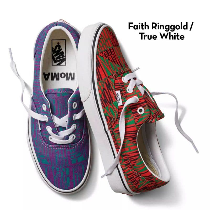 faith ringgold and true white Moma vans