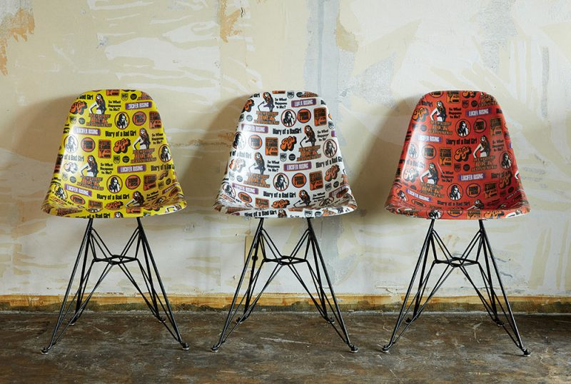 modernica x hysteric glamour shell chairs