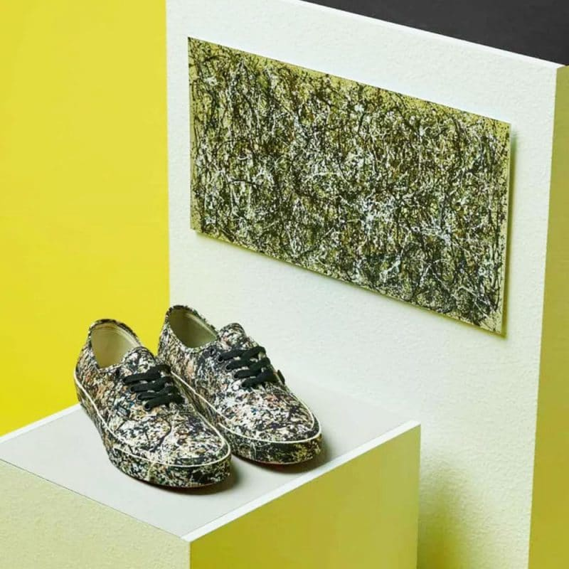 jackson pollock art and shoes