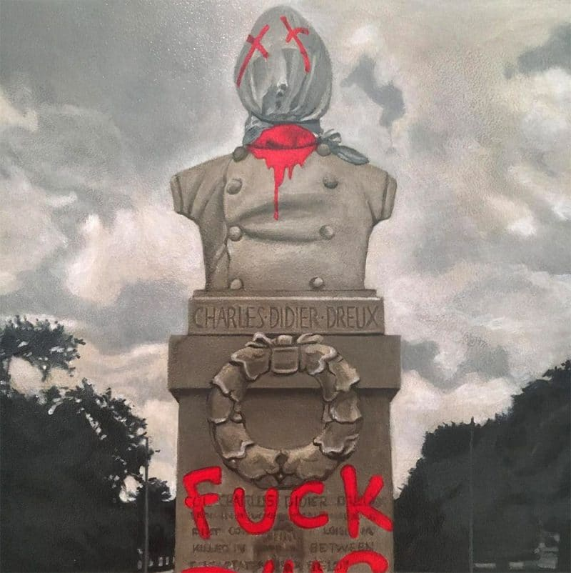 Charles Didier Dreux/Fuck This Shit, New Orleans, LA, 2020, oil on birch panel, 20 x 20 inches
