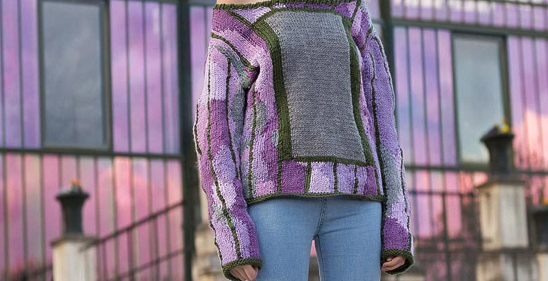 sweater camouflage detail