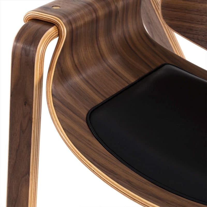 oyster chair with leather