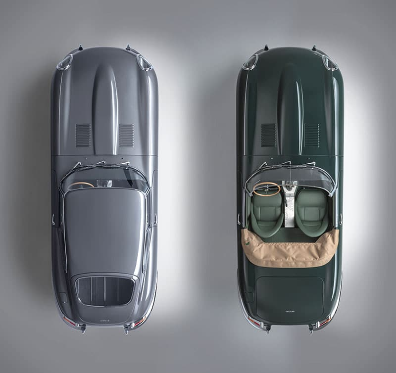 Flat Out Grey and Drop Everything Green jaguar e-types