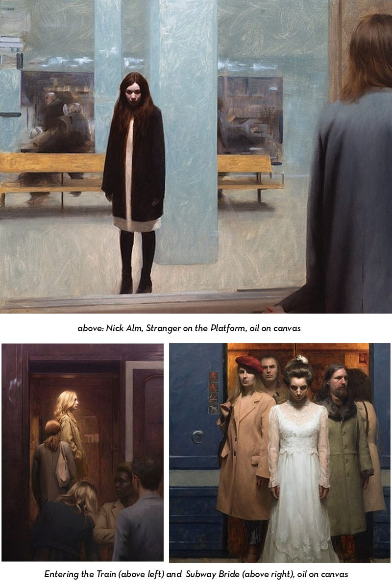 Nick Alm subway paintings If its hip its here