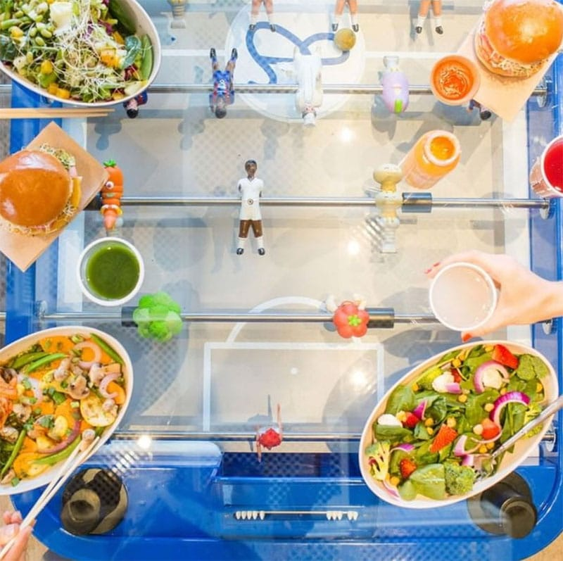 Combination Dining and Foosball Tables