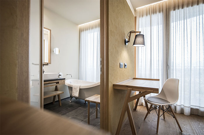 renovated hotel in northern italy