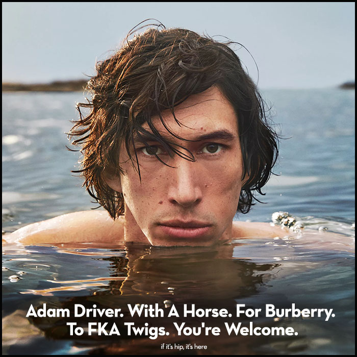 Read more about the article Adam Driver. With A Horse. For Burberry. To FKA Twigs. You're Welcome.