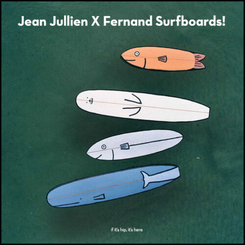 Read more about the article Jean Jullien Surfboards for FERNAND are the Cutest Ocean Critters Ever.