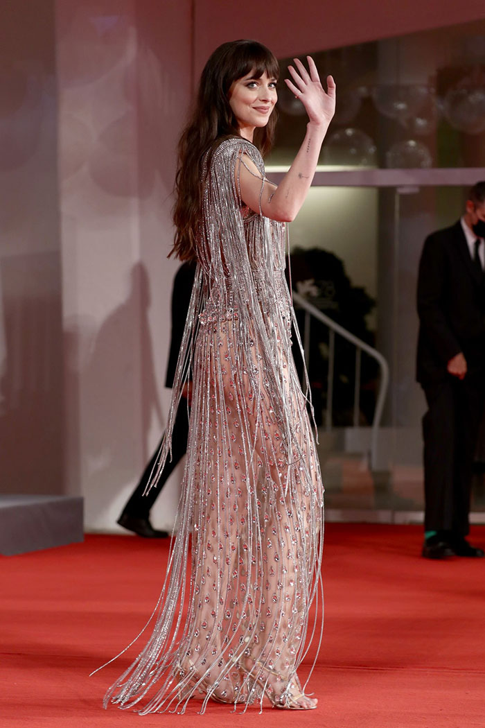 Gucci silver beaded gown