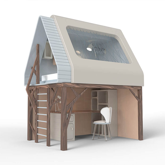indoor playhouse and loft