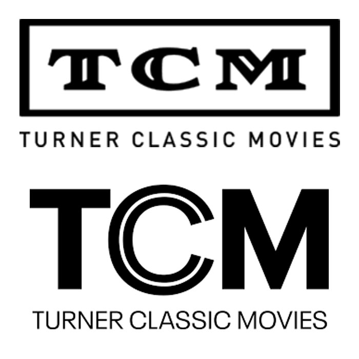old and new TCM logos