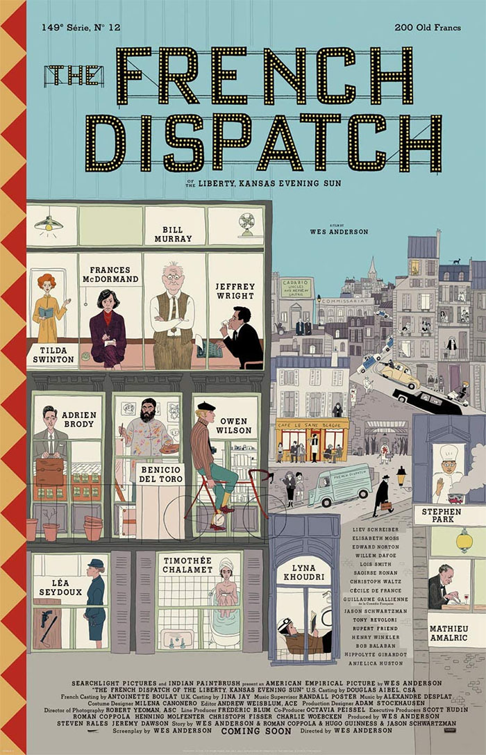 the french dispatch illustrated movie poster