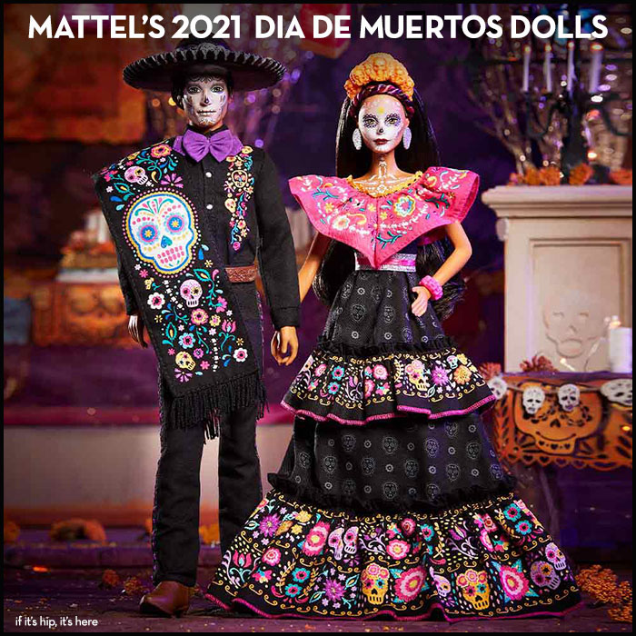 Read more about the article Mattel's 2021 Day of The Dead Dolls. Barbie and Ken do Dia De Muertos.