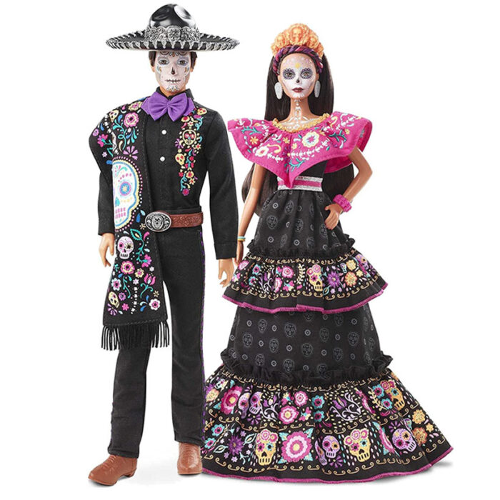 2021 barbie and ken day of the dead dolls