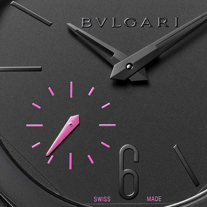 Bulgari watch (detail) for the Pink Dial Project