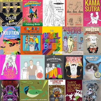 The Coolest Coloring Books For Grown-Ups Part IV – 40 New Ones!
