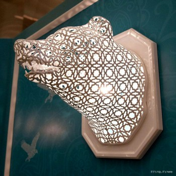 Illuminated Animal Lace Heads by Linlin and Pierre-Yves Jacques