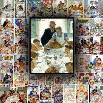 The 37 Best Parodies of Rockwell's Freedom From Want (aka Thanksgiving Dinner).